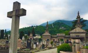 cimitero domo croce