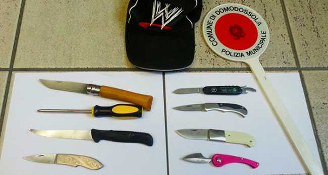 coltelli polizia locale taglia gomme