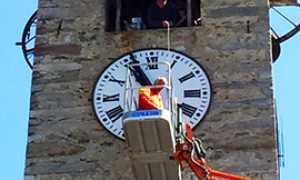 corta campanile orologio bognanco