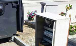 corta quadro elettrico cimitero domo