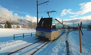 corta treno vigezzina neve