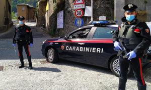 covid mitra auto blocco paese carabinieriValle Antrona 71