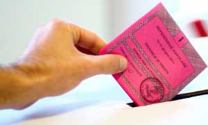 elezione scheda urna