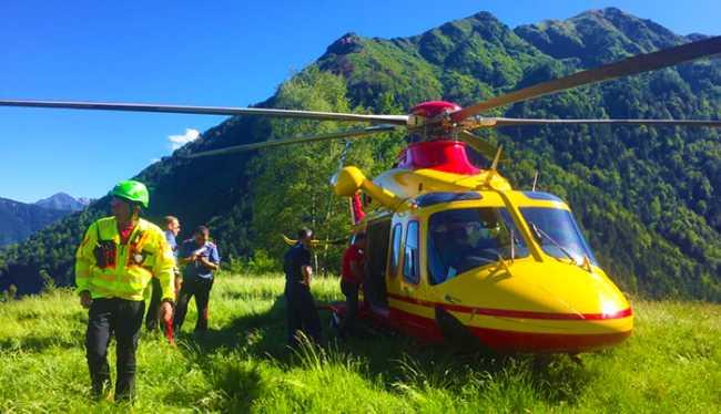 elicottero 118 montagna soccorritori1