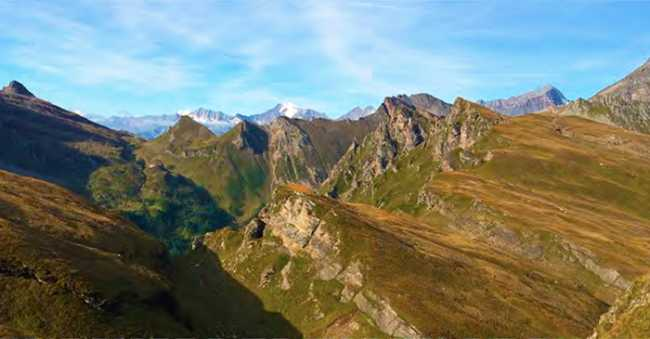 montagne vista elicottero