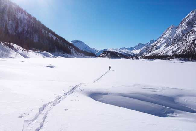 neve solitudine Lago di Codelago Devero