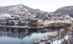 omegna lago vista neve