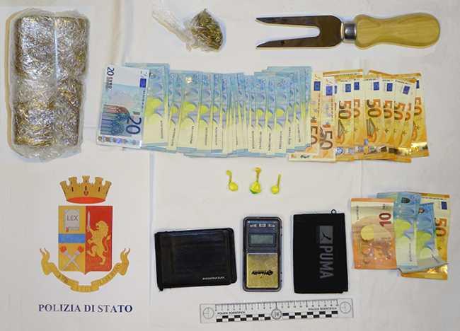 sequestro droga polizia arresto