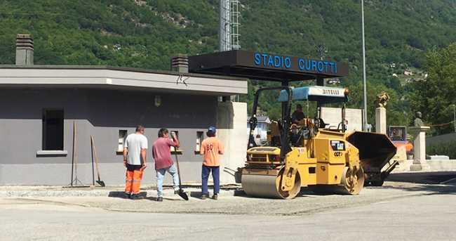 stadio curotti entrata lavori