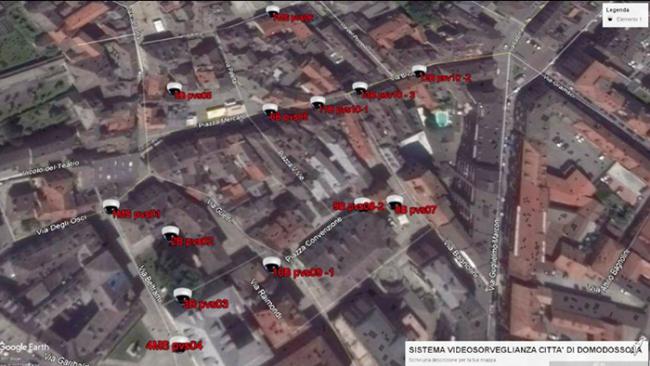 telecamere domo mappa