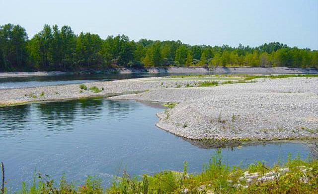 Ecco il t verde ossolano a premosello parte la for Sabbia di fiume