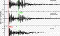 b terremoto onde