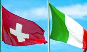 b bandiere svizzera italia