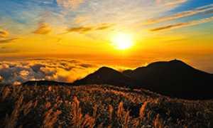 b estate tramonto montagna