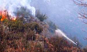 b incendio vigezzo fuoco vigile