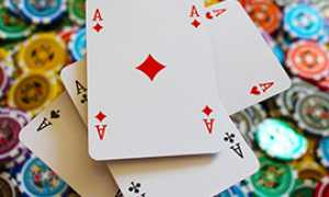 b poker carte assi