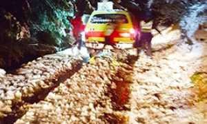 b soccorso ambulanza neve notte