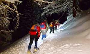 b soccorso neve ciaspole