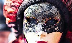 corta carnevale maschera ragazza