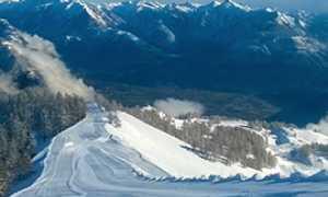 corta domobianca pista neve