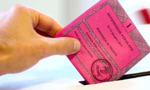 corta elezione scheda urna