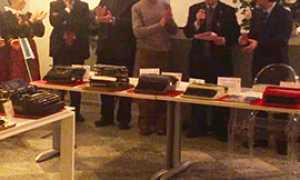corta inaugurazione mostra macchine scrivere