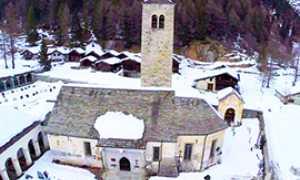 corta macugnaga Chiesa Vecchia drone
