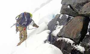 corta montagna scalatore neve