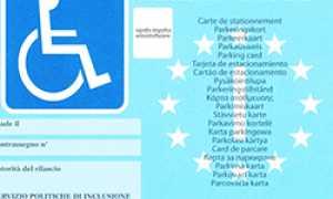 corta parcheggio blu disabili