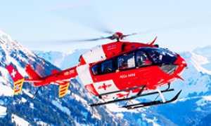 corta rega elicottero volo neve