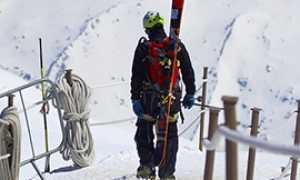 corta sci sciatore piedi