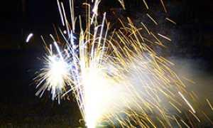corta scintille artificio fuochi