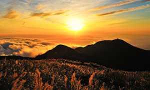 corta sole tramonto montagna