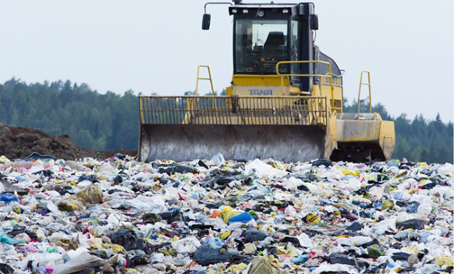 discarica rifiuti pala