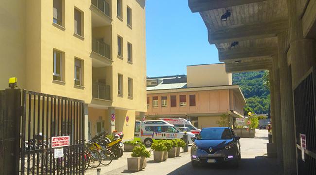 ospedale biagio entrata auto