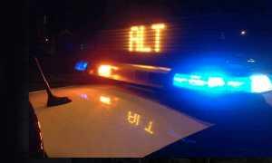 polizia lampegiante notte alt