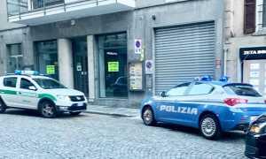 polizia vigili auto centro