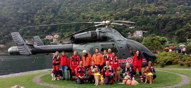 sogit elicottero volontari lago