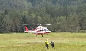 vigili fuoco elicottero prato decollo